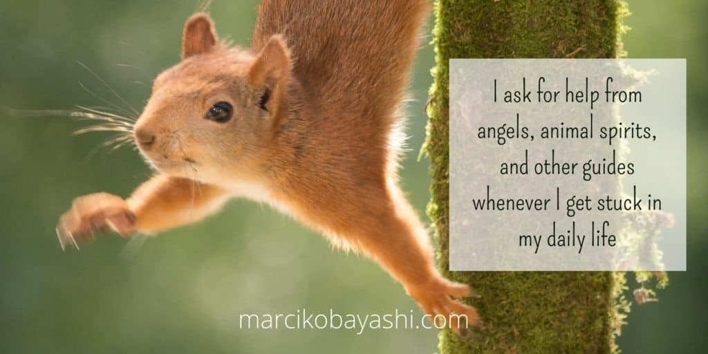 I ask for help from angels, animal spirits, and other guides whenever I get stuck in my daily life. | with Marci at marcikobayashi.com