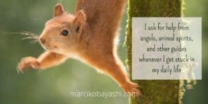 I ask for help from angels, animal spirits, and other guides whenever I get stuck in my daily life.   with Marci at marcikobayashi.com