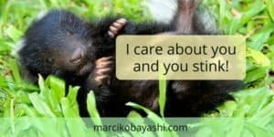I care about you and you stink. | Living with Alzheimer's with Marci at marcikobayashi.com
