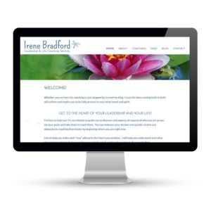 Preview of irenebradford.com, a website designed and developed by Marci Kobayashi | visit marcikobayashi.com