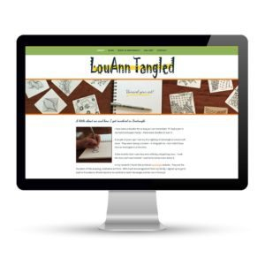 Preview of louanntagled.com, a website designed and developed by Marci Kobayashi | visit marcikobayashi.com
