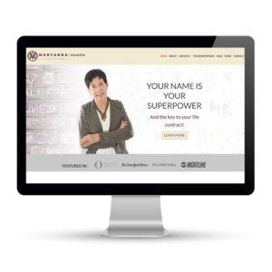 Preview of maryannakorwitts.com, a website designed and developed by Marci Kobayashi | visit marcikobayashi.com