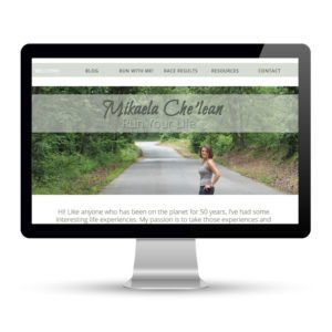 Preview of mikaelachelean.com, a website built by Marci Kobayashi