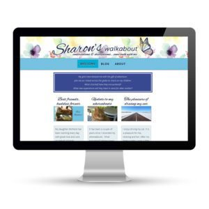 Preview of sharonswalkabout.com, a website built by Marci Kobayashi