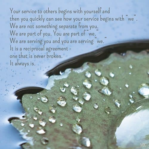 We are part of you... | A message brought to you with love, light and blessings from Marci at marcikobayashi.com